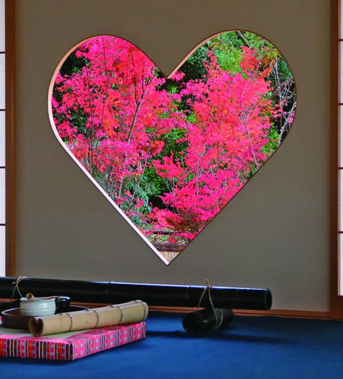 正寿院・ハート窓の写真