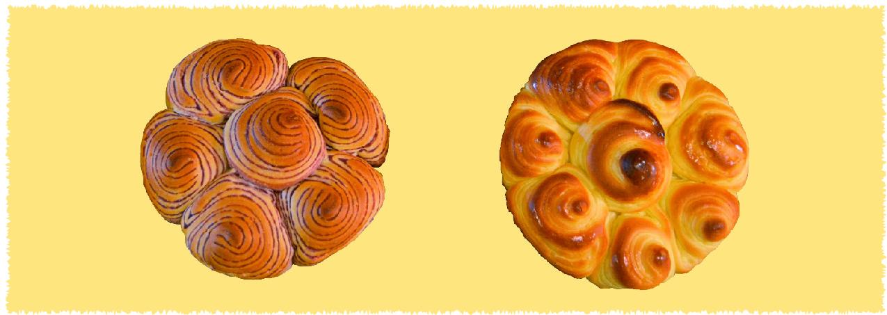 ペンタゴン紫芋と蜂蜜レモンパンの画像