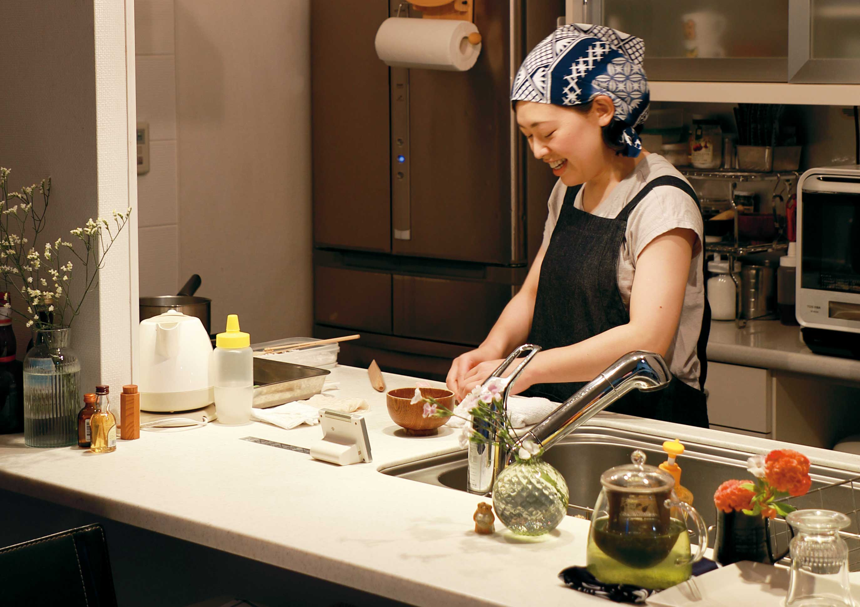 和菓子職人、名主川千恵の写真