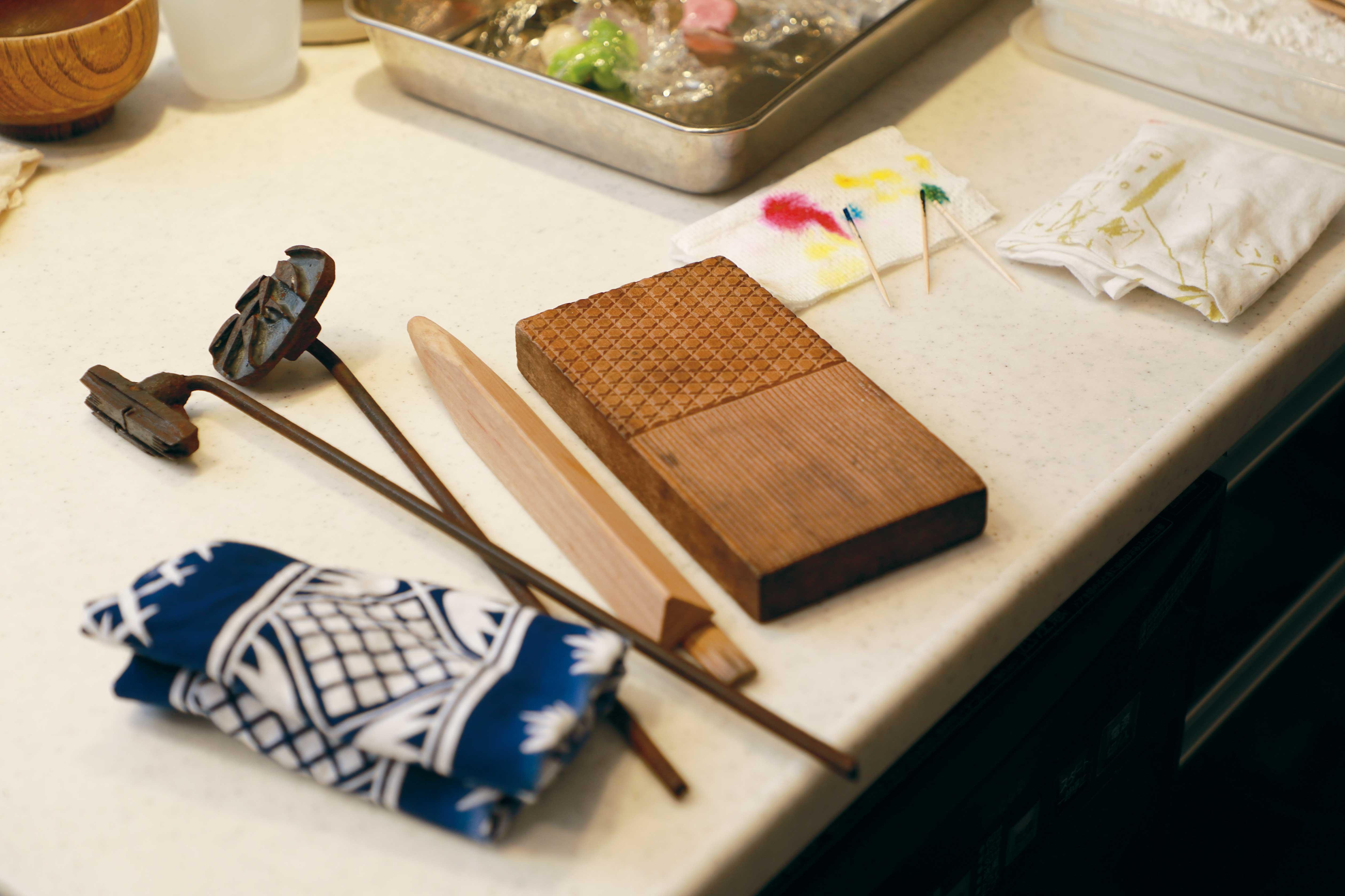 和菓子作りに欠かせない道具写真