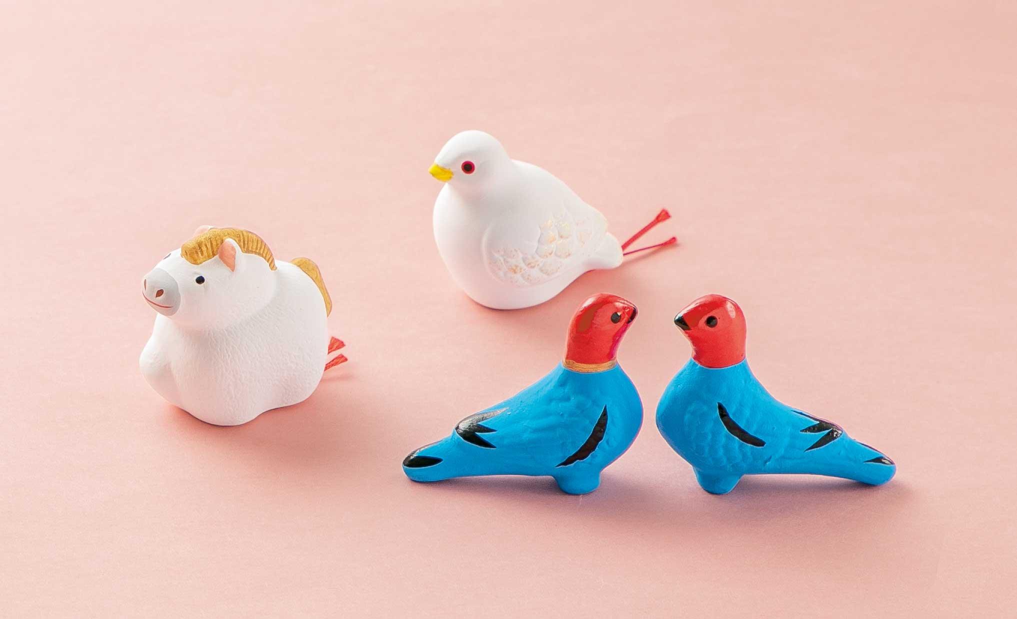 干支人形・牛と鳥