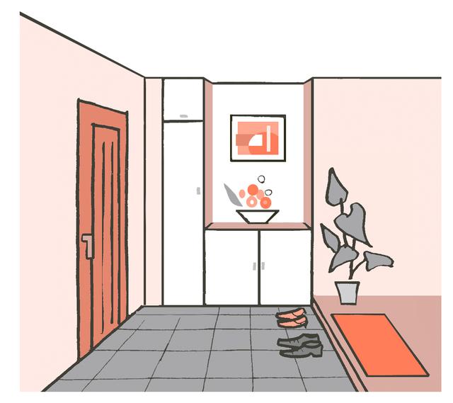 玄関イラスト
