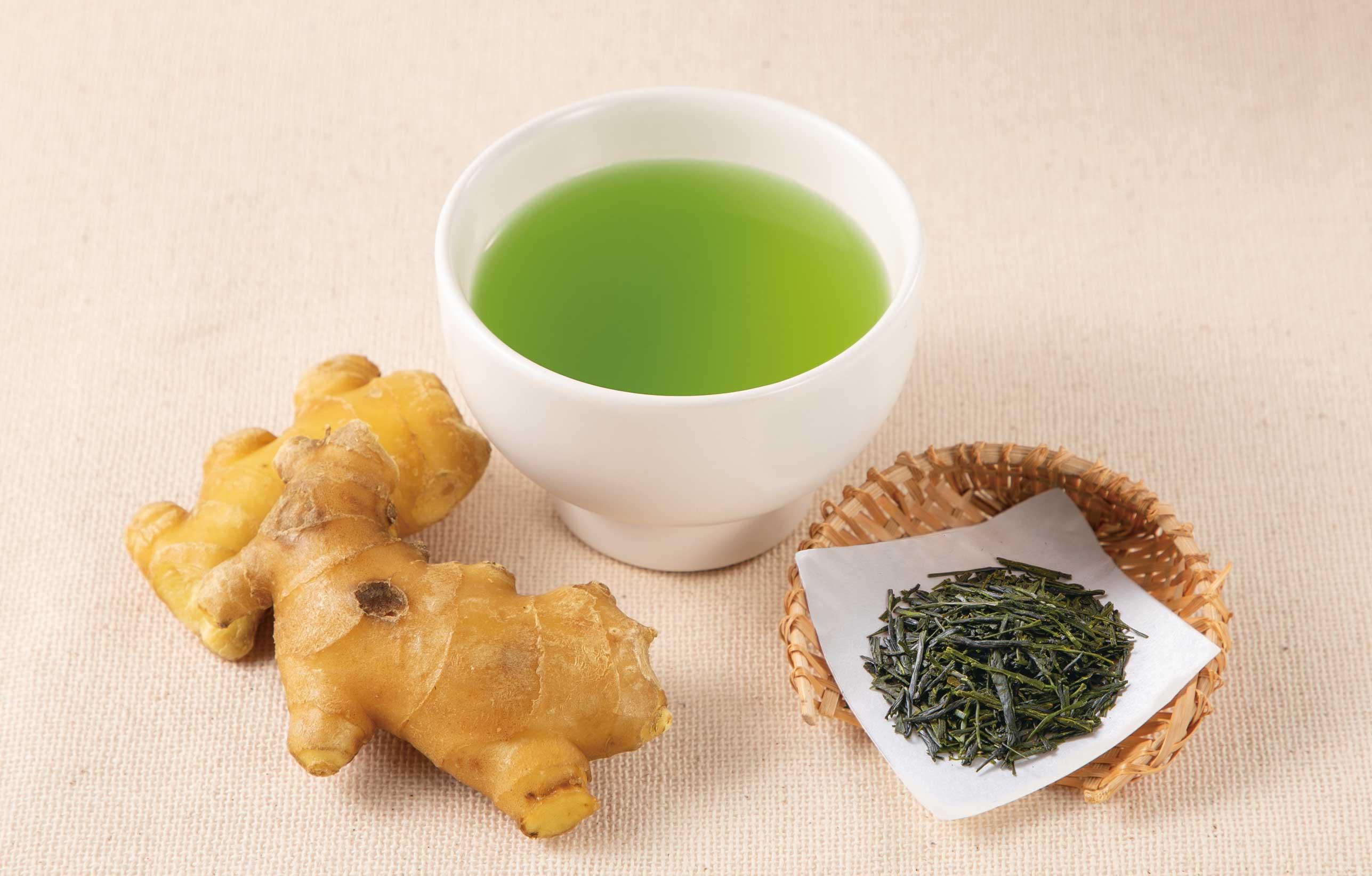 しょうがと緑茶