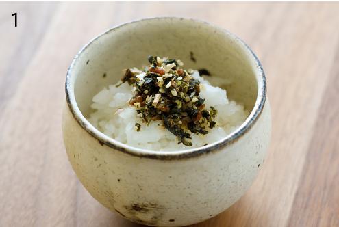 玄米茶と梅のふりかけ