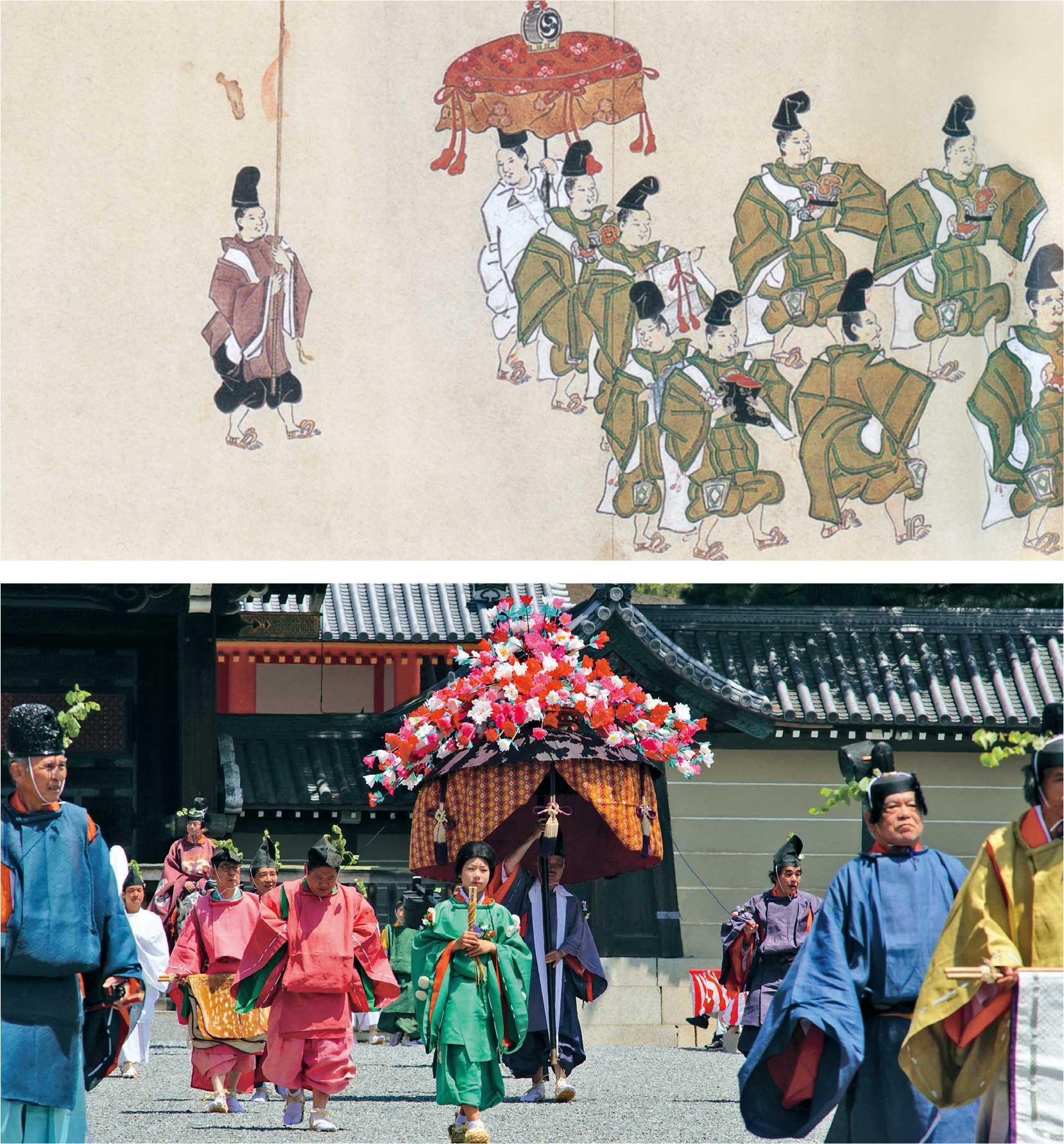 葵祭と風流傘