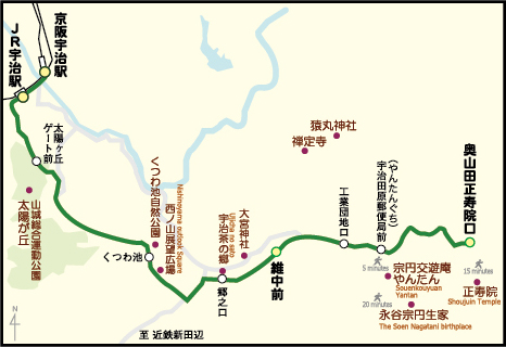 宇治茶バスの地図