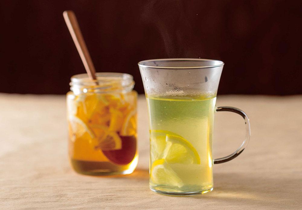 緑茶+レモンのはちみつ漬け
