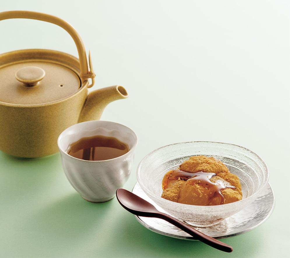 ほうじ茶×わらび餅