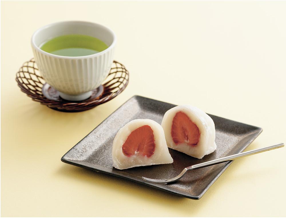 若蒸し茶×フルーツ大福