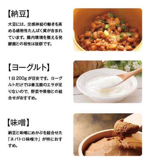 腸を元気にする、発酵食品