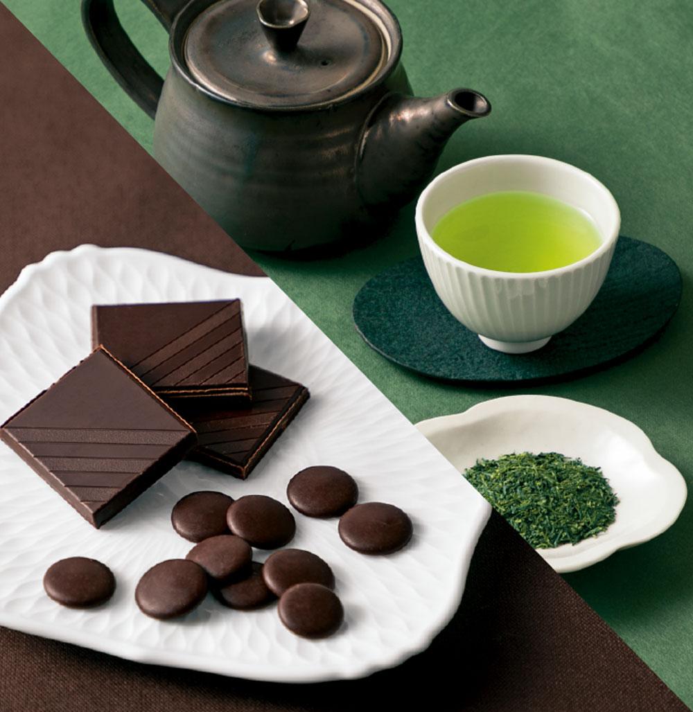 深蒸し茶×ハイカカオチョコレート