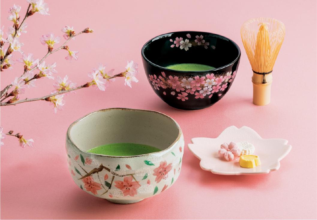 抹茶の緑と桜のピンク