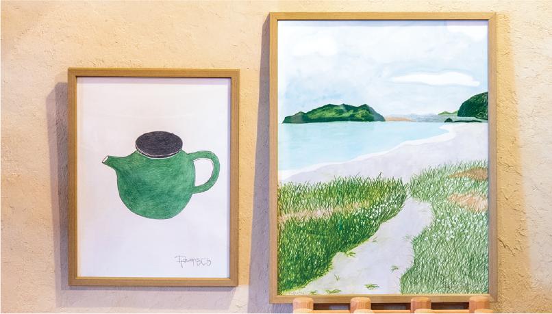 「緑の茶器」「海辺の道」