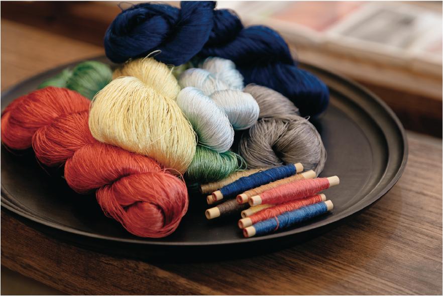 生糸や紬糸