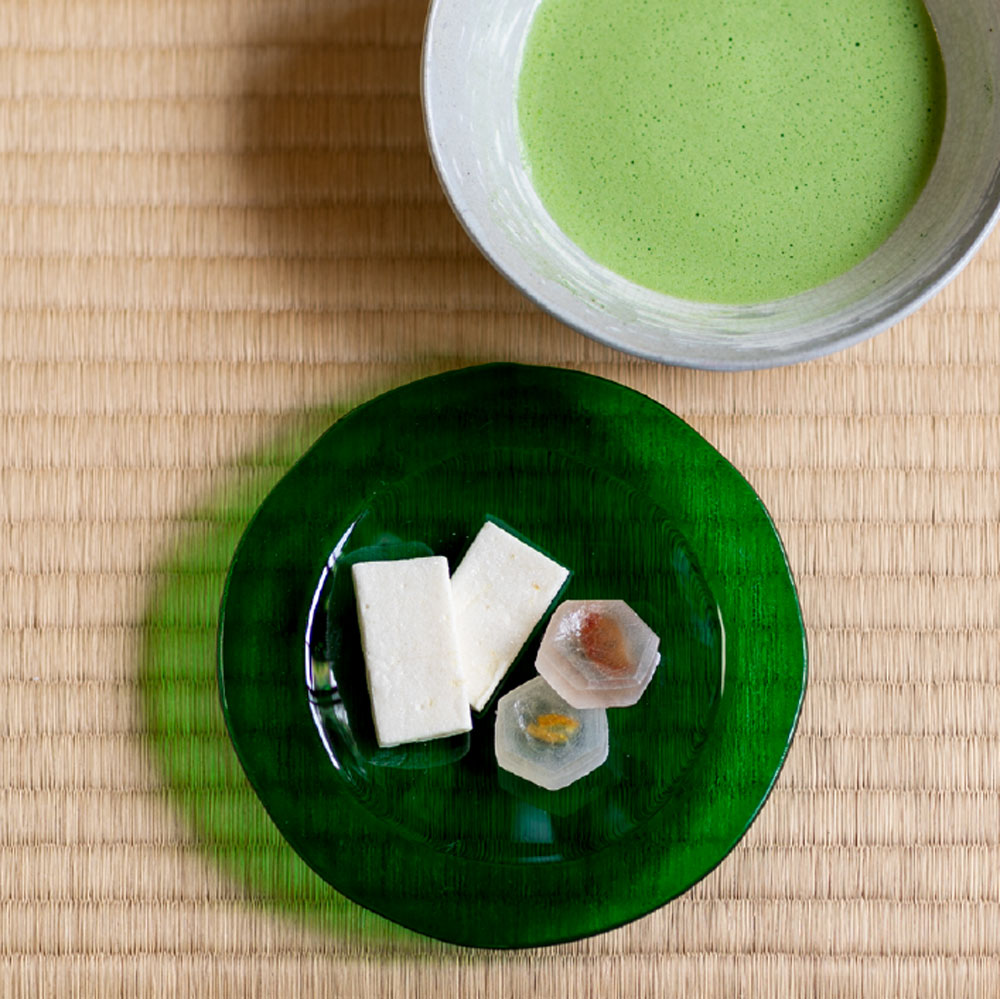 瑠璃の音と抹茶